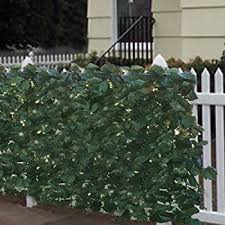 Amazon Com Windscreen4less Artificial Leaf Faux Ivy Expandable X2f Stretchable Privacy Fence Screen Privacy Fence Screen Artificial Hedges Outdoor Privacy