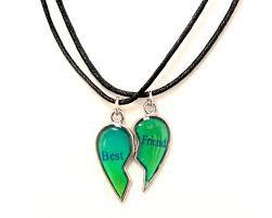 best friends mood broken heart pendants