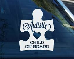 Autistic Child Children On Board Puzzle Autism Awareness Sign Car Decal Sticker Ebay