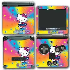 Hello Kitty Rainbow Stars Lollipop Video Game Vinyl Decal Skin Sticker Cover For Nintendo Gba Sp Gameboy Advance System Wantitall