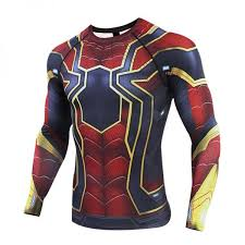 iron spider rash guard workout jersey