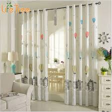 Cartoon Balloon Window Curtains For Kids Room Korean Style Living Room Curtains Bedroom Drapes Punching And Hook Treatments Curtains For Balloon Window Curtainscurtains For Kids Aliexpress