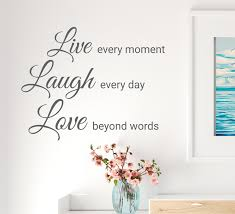 Wall Decal Live Laugh Love Motivational Words Lettering Vinyl Decor Gr Wallstickers4you