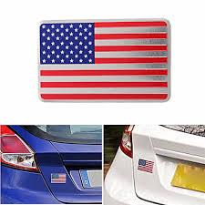 Car American Usa Flag Emblem Sticker Metal Badge Decal Decor Universal For Truck Auto Alexnld Com