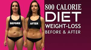 800 calorie t before and after