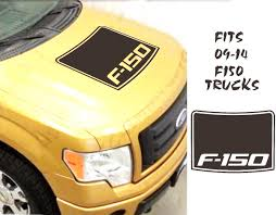 Product Ford F150 Contour Blackout Vinyl Hood Decal Insert Fits 09 14 Trucks