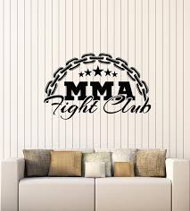 Vinyl Wall Decal Martial Arts Lettering Mma Fight Club Stars Gym Stick Wallstickers4you