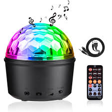 Party Lights Sound Activated Disco Ball With Remote Control 9 Colors Disco Lights Dj Lights Wireless Phone Connection Led Stage Light For Kids Bedroom Wedding Party Birthday 9w Walmart Com Walmart Com