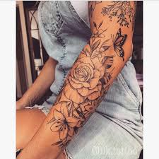 Pin by Adele Jacobs on tattoos in 2020 | Unique half sleeve tattoos,  Beautiful flower tattoos, Sleeve tattoos for women