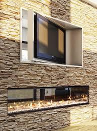 indoor outdoor fireplace design ideas