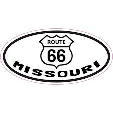 4 X 2 Oval Route 66 Missouri Vinyl Sticker Walmart Com Walmart Com