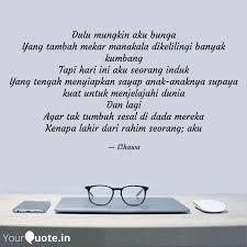 dulu mungkin aku bunga ya quotes writings by elhawa maryam