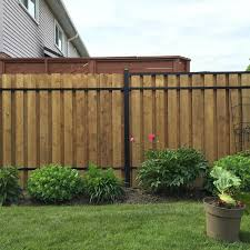 Slipfence 3 In X 1 5 In X 92 In Black Aluminum Vertical Fence Stringer Kit Includes 2 Stringers 4 Brackets And All Fasteners Sf2 Usk93 The Home Depot In 2020 Aluminum Fence Patio Fence Fence Design