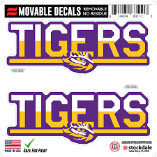 Lsu Tigers 6 X 6 Two Tone Repositionable Decal 2 Pack Set