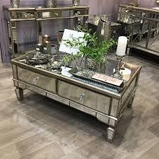 belfry 4 drawer champagne gold mirrored