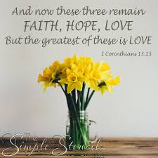 1 Corinthians 13 13 Faith Hope Love Bible Verse Wall Transfer Decal