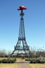 eiffel tower replicas located outside