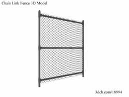 Chain Link Fence 3d Model Youtube