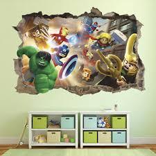 Lego 3d Wall Decal Lego Marvel Super Heroes Wall Sticker Hulk Removable Ebay