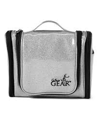 glamr gear silver hanging cosmetic bag