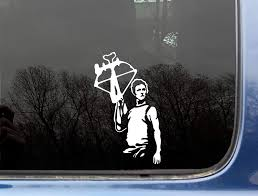 Amazon Com Daryl Dixon Of The Walking Dead 3 3 4 X 6 3 8 Die Cut Vinyl Decal Sticker For Window Truck Car Laptop Or Ipad Not Printed Everything Else