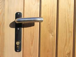 Courtyard And Heavy Framed Garden Gate Latch Jacksons Fencing