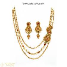 22k gold antique necklace sets indian