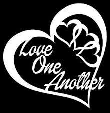 Love One Another Heart Vinyl Decal Sticker Car Window Wall Bumper Peace Symbol Ebay