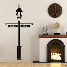 Gas Lamp Wall Decal With Customizable Signs