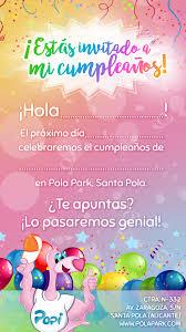 Invitaciones De Cumpleanos Pola Park
