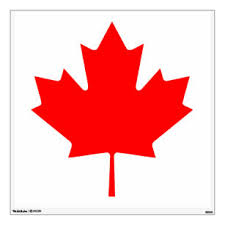 Maple Leaf Wall Decals Stickers Zazzle