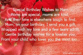 mom birthday poems