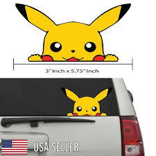 Decals Stickers Vinyl Art Pokemon Pikachu Anime Car Window Decal Sticker 003 Fibsol Com