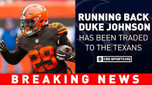 The Cleveland Browns Trade RB Duke Johnson To The Houston Texans ...