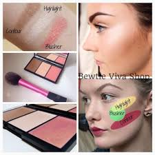 sleek face form contouring and blush