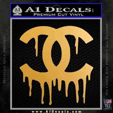 Chanel Dripping Decal Sticker A1 Decals