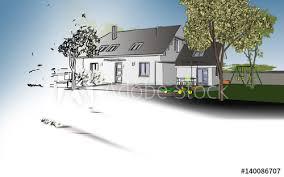 dessin d architecte et plan de maison