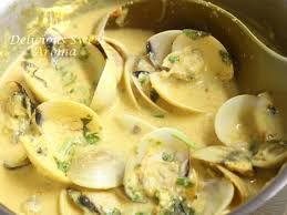 Fresh clams In coconut Milk