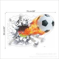 3d Soccer Ball Football Wall Sticker Decal Home Mural Poster Vinyl Art Decor Us Ebay