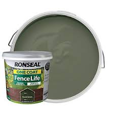 Ronseal One Coat Fence Life Matt Shed Fence Treatment Forest Green 5l Wickes Co Uk