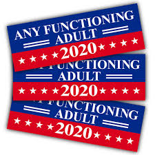 Anley 9 X 3 Inch Any Functioning Adult 2020 Decal Car And Truck Reflective Bumper Stickers 2020 United States Presidential Election 3 Pack Walmart Com Walmart Com