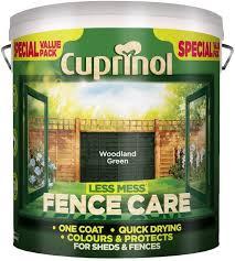 Cuprinol Less Mess Fence Care 6l Woodland Green 448192 Amazon Co Uk Diy Tools
