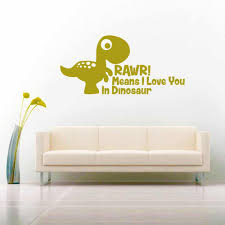 Rawr Means I Love You In Dinosaur Funny Car Window Decal Sticker
