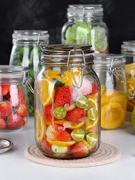 household glass jar with sealed lids