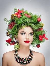 xmas makeup and hair style indoor shoot
