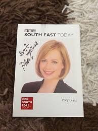 POLLY EVANS (BBC South East Today) Signed Cast Card - £4.00 | PicClick UK