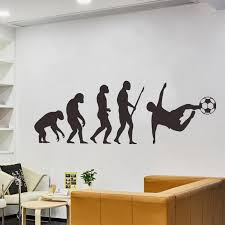 Human Evolution Art Wall Stickers Living Room Porch Corridor Home Decoration Mens Football Silhouette Decals Black Wall Sticker Remova Lmp4 Wall Tattoos Decals Wall To Wall Decals From Walmarts 24 52 Dhgate Com