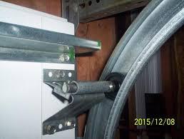 broken top panel on a 16 ft garage door