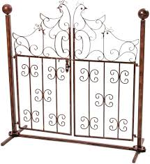 Aubaho Decorative Garden Gate With Chicken Design Antique Style Wrought Iron Amazon Co Uk Garden Outdoors