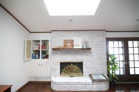 update a brick fireplace how to